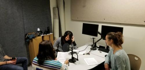 Students recording 2