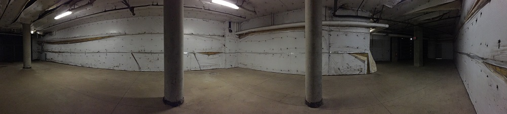 The basement in the Valley Library.
