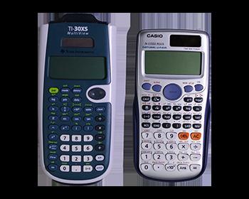 One casio and one texas instrument scientific calculators