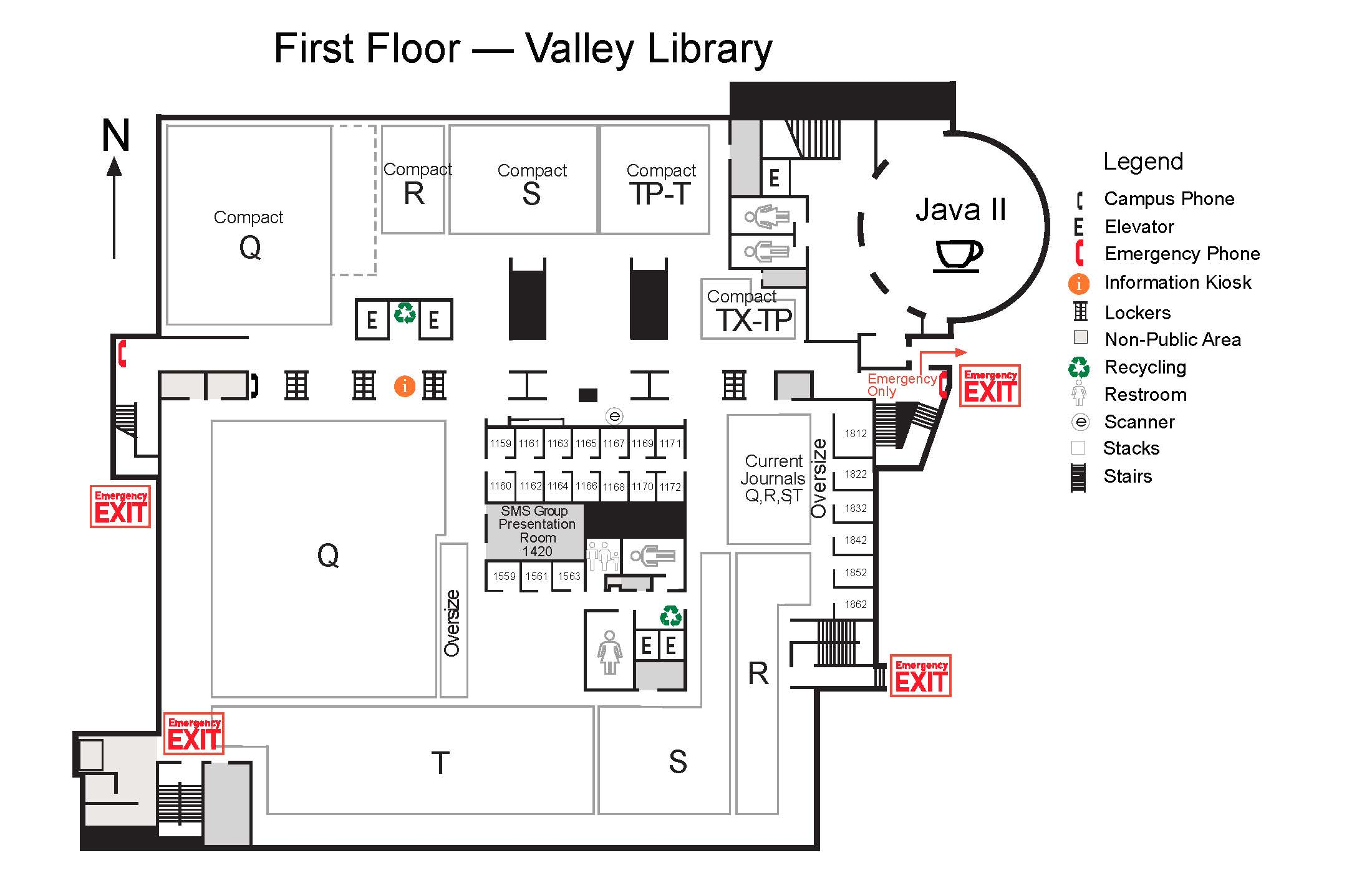 Valley Library First Floor Map