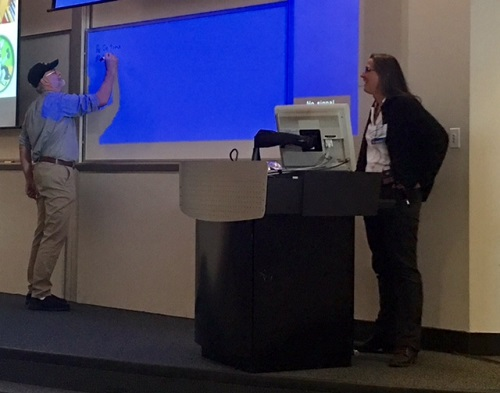 Lori and Bryan presenting at a conference