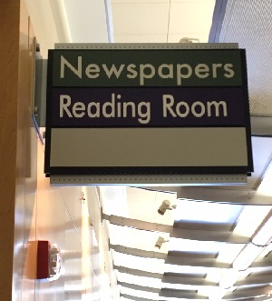 The new reading room sign.