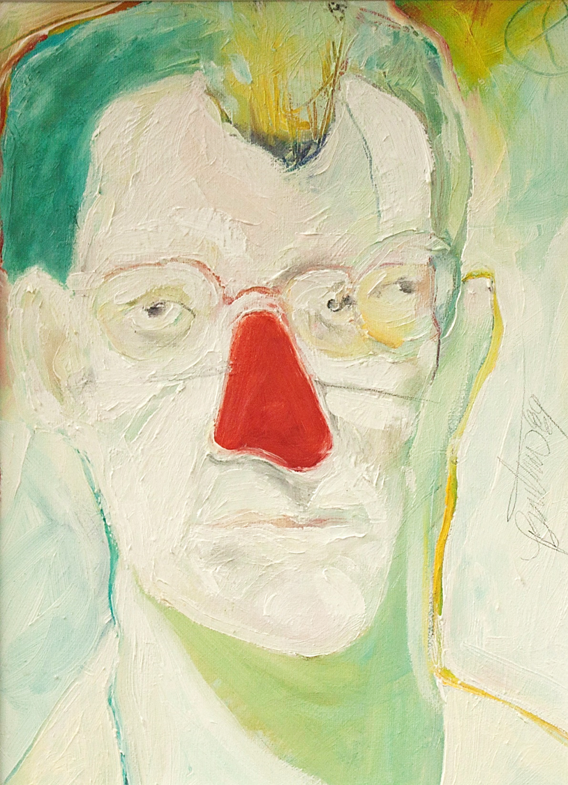 self portrait with red nose image
