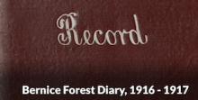 Marion Bernice Forest Diary Image
