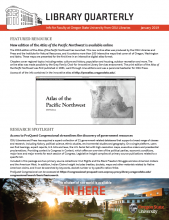 A cover of the January Faculty Newsletter
