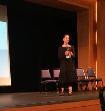 Rima Reves presenting