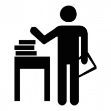 Black and White Services Icon